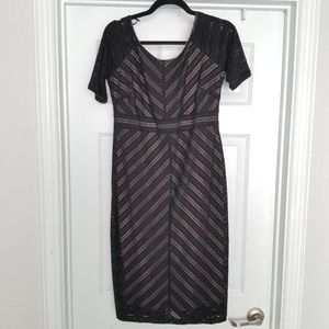 Motherhood Maternity black and nude dress